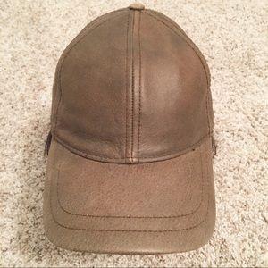 VTG Dorfman Pacific Scala Brown  Leather Cap